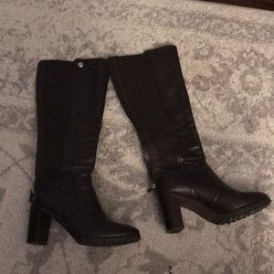 Tory Burch Brown Leather Tall Heel Boots